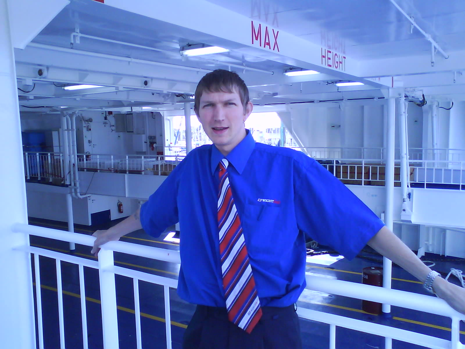 Jonny Blair working at Wightlink Isle of Wight England