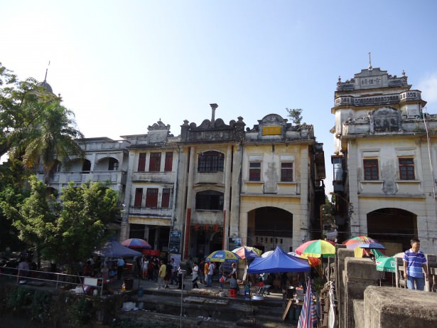 Old buildings in Chikan near Kaiping in China