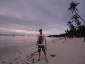 Jonny Blair at Alona Beach in the Philippines