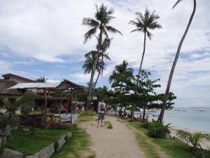 relaxing on Alona Beach Panglao island