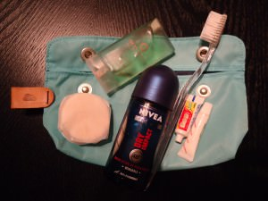 My travelling toiletry bag for short trips by Jonny Blair