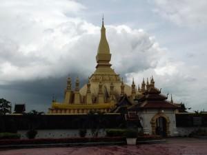 Pha That Luang in Vientiane Laos