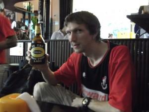 Local bar in Vientiane Laos