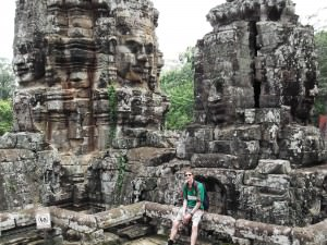 Jonny Blair at Bayon Temple