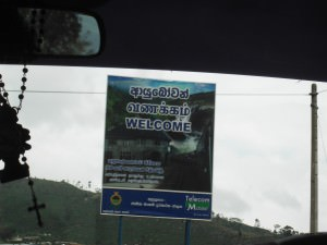 Arrival in Haputale sign