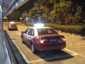 shenzhen taxi at Huanggang