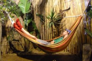Jonny Blair sleeping in South Africa