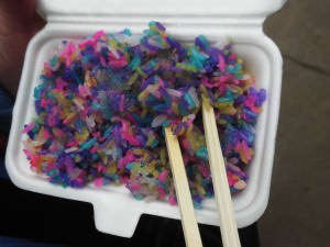 Coloured chinese rice in Yunnan province