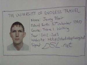 Jonny Blair - travel writer