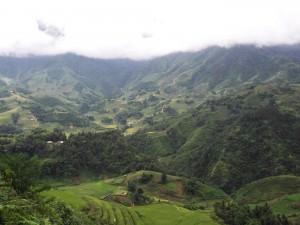 Mountains of northern Vietnam near Sapa hiking