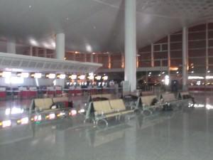 Hangzhou Airport at night China