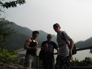 Northern Irish lads hiking at Tai O in Hong Kong