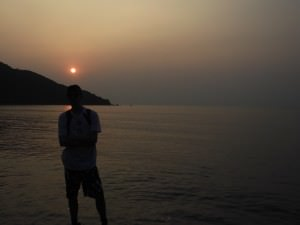 Sunset in Tai O on the hike to Yi O
