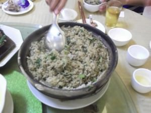 eel fried rice in Kaiping in China