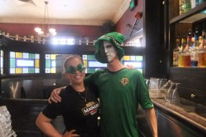 Jonny and Jacqui working in PJ's Irish Pub in Parramatta Australia