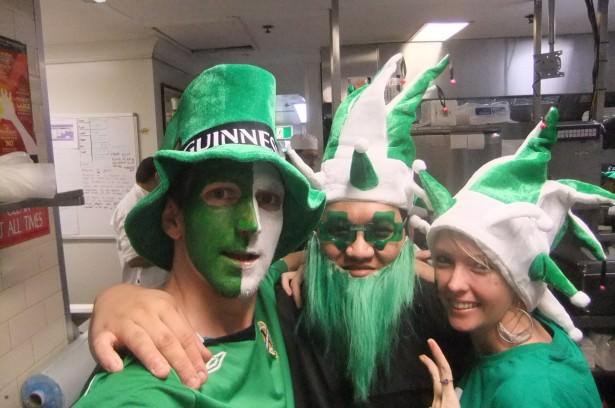 Working in PJ's Irish pub Parramatta
