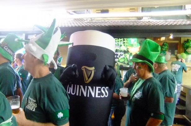 Jonny Blair dressed as a Guinness pint
