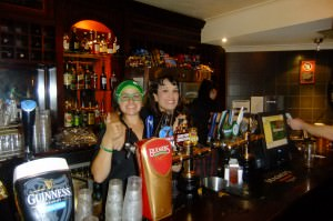 Charlotte Hall and Yvette Cochrane at PJs Irish Pub Parramatta
