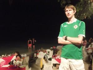 Jonny Blair travelling Ulsterman on Alona beach