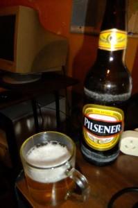 Pilsener beer at Ciudad mitad del mundo