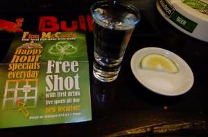 Free shot of tequila in Ecuador
