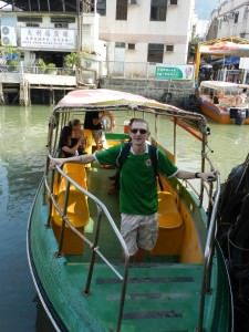 Tai O boat trip out to sea