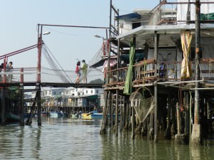 Stilt housing in Tai O fishing village