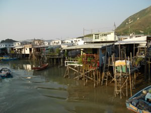village on stilts Tai O in Hong Kong