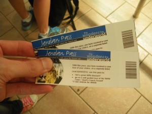 ticket for the Jenolan Caves