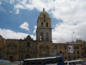 Big church in central La Paz Jonny Blair a lifestyle of travel