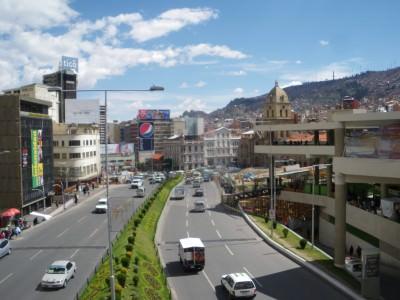 Streets of La Paz Bolivia