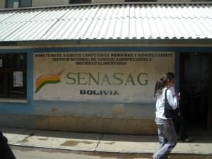 Bolivian checkpoint at Desaguadero