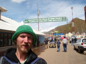 At the Bolivia Peru border Desaguadero in 2010