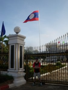 Presidential Palace in Vientiane with Jonny Blair of Dont Stop Living