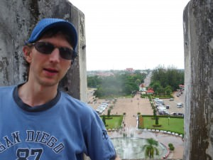 Jonny Blair at Patuxai