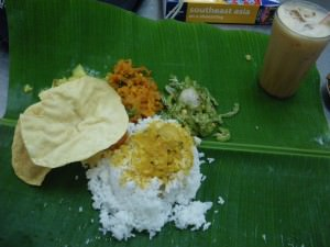Indian curry at Batu Caves