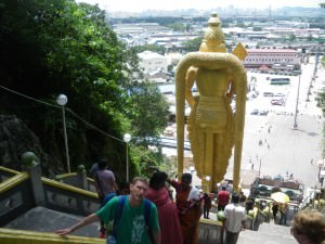 Jonny Blair at Batu Caves in Malaysia