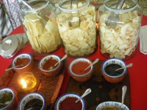 Indonesian buffet in Yogya