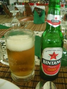 Bintang Beer to wash it all down with - Indonesia's finest!