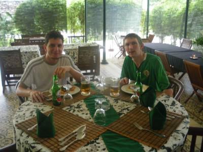 Rodrigo and Jonny in Indonesia