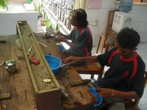 Silver factory tour Kotagede Indonesia