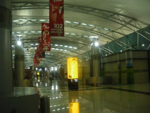 Sleeping in Jakarta International Airport