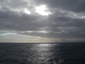 sunset on the Drake Passage to Antarctica