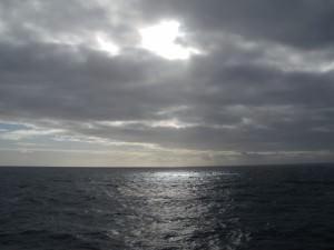 sunset on the Drake Passage to Antarctica