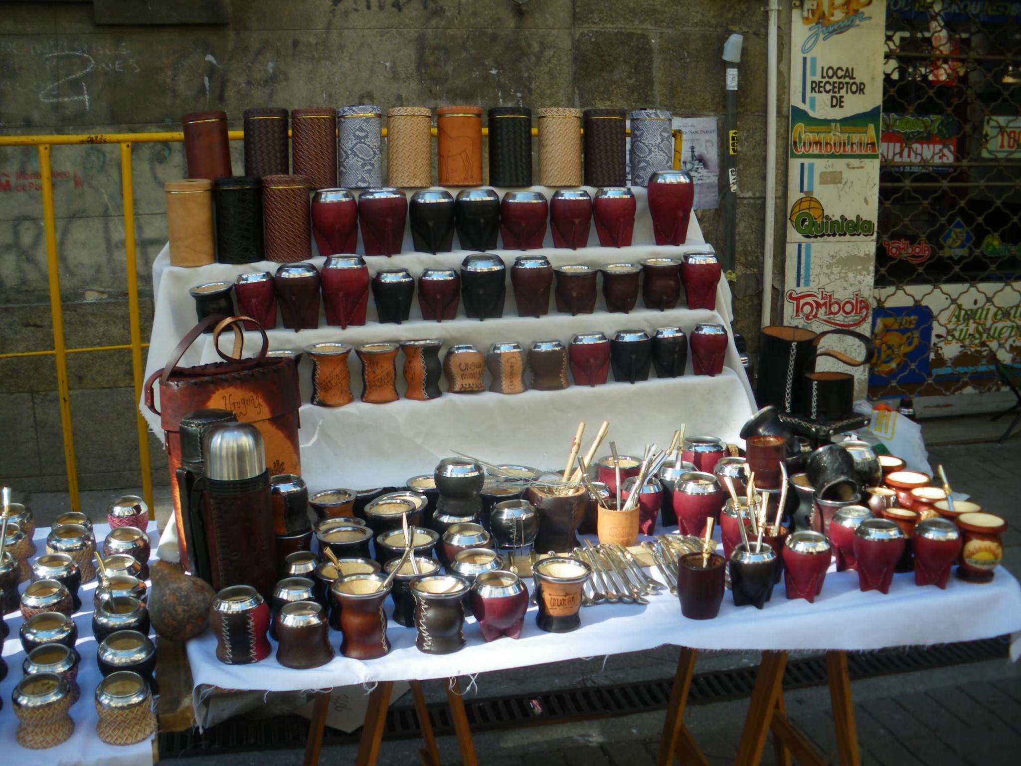 Mate in Uruguay - Montevideo markets
