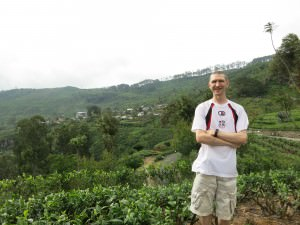 Jonny Blair in tea plantations in Haputale