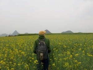 Jonny Blair in yellow fields luoping