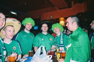 Jonny Blair and his mates watching Northern Ireland in Europe
