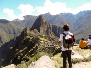 Adam Pervez of Happiness Plunge at Machu Picchu