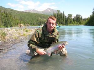 Greg Rodgers fishing in Alaska